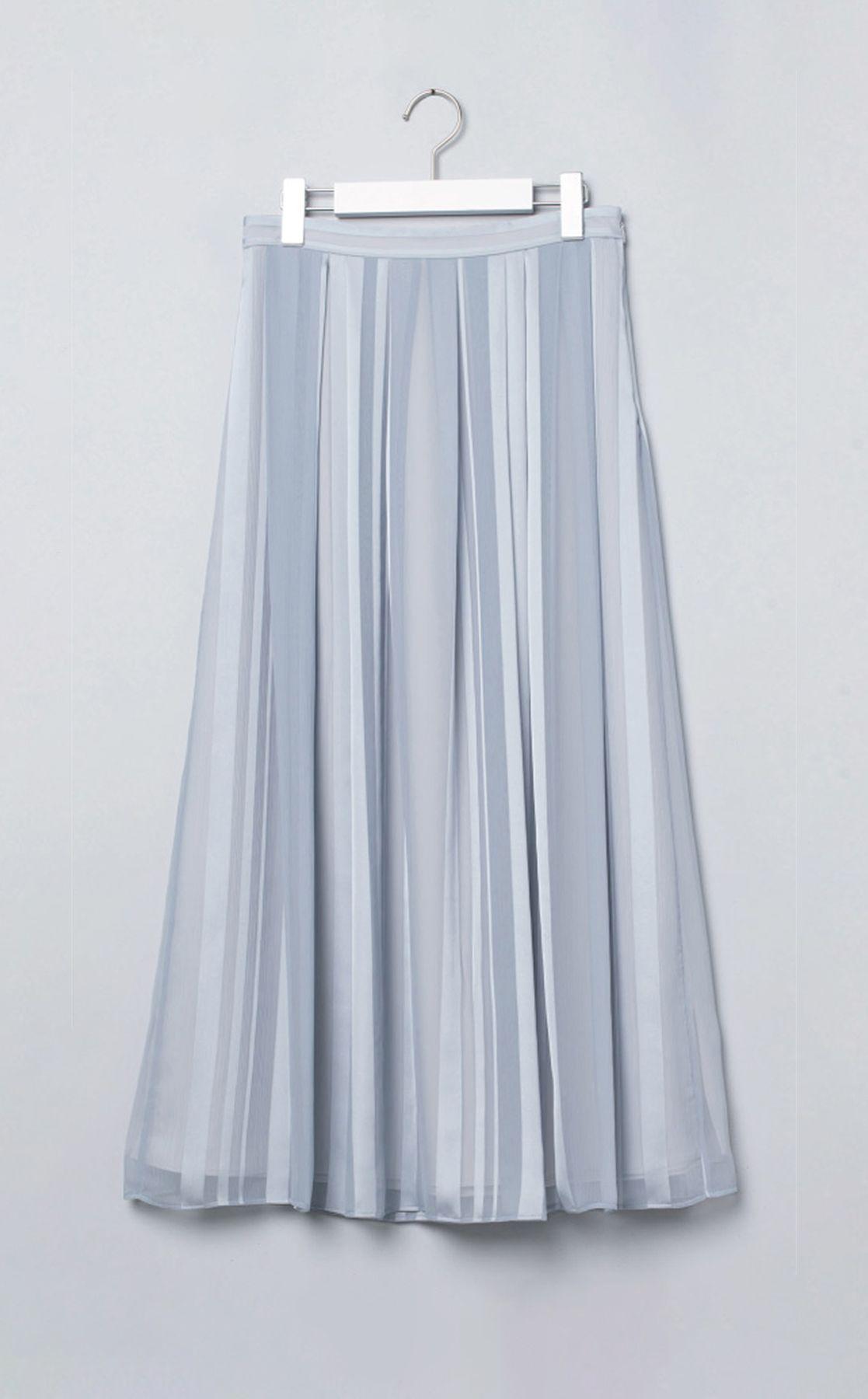 フロントプリーツロングスカート