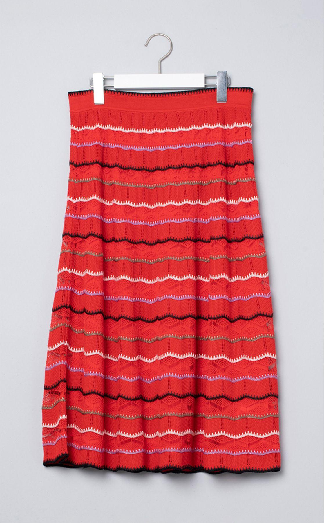 かぎ針編みニットスカート