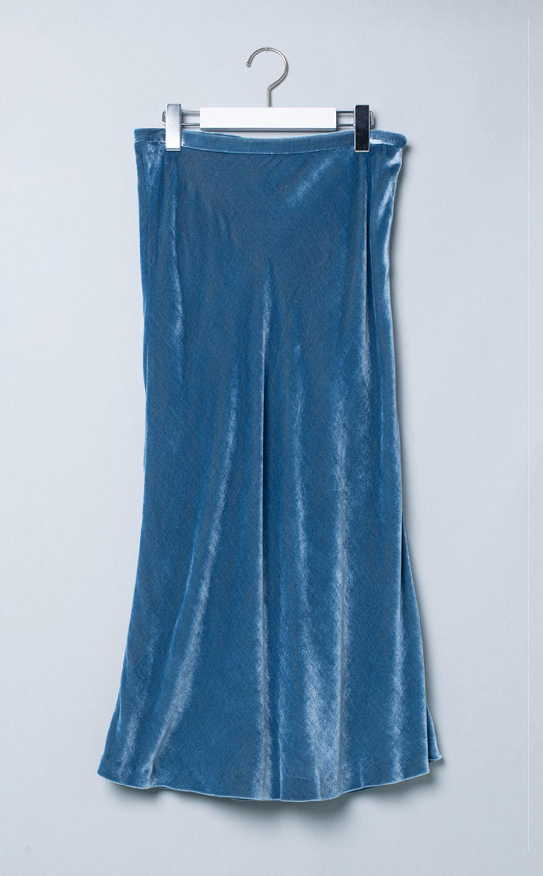 ベロアミディスカート